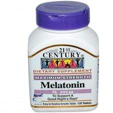 21st Century Health Care, Мелатонин, 5 мг, 120 таблеток
