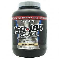 Dymatize, ISO 100 Whey 3 lb Гидролизованный изолят шоколад, 1,36 кг