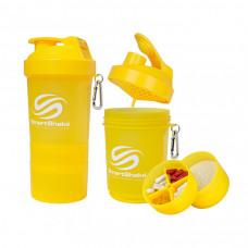 Smartshake, Неоновый шейкер 3 в 1 с карабином, жёлтый neon, 600 мл