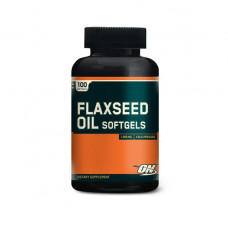 ON Optimum Nutrition, Льняное масло Flaxseed Oil, 100 капсул