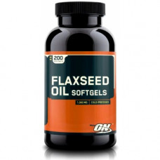 ON Optimum Nutrition, Льняное масло Flaxseed Oil, 200 капсул