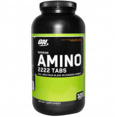 Optimum Nutrition ON, Superior Amino 2222 Tabs, 320 таблеток