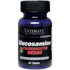 Ultimate Nutrition, Glucosamine & Chondroitin & MSM, 90 таблеток