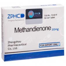 ZPHC, Methandienone Метандиенон 20 мг, 50 таблеток