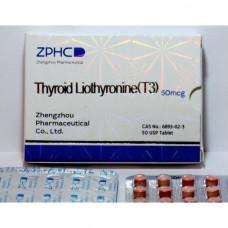 ZPHC, Thyroid Liothyronine T3 Трийодтиронин 50 мкг, 50 таблеток