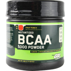 ON Optimum Nutrition, BCAA 5000 Powder фруктовый пунш, апельсин, 380 грамм